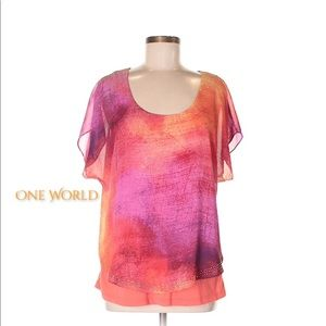 One World Shortsleeved Blouse NEW!